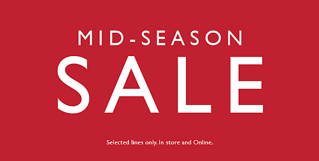 Shop mid-season sale