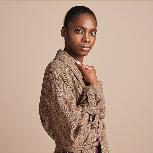 Shop Grace Amelia in Aubergine Nubuck