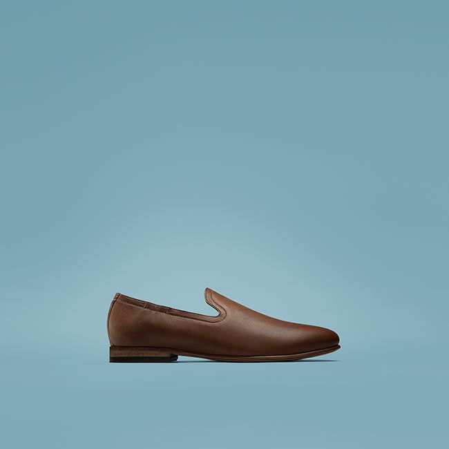 Shop Form Step in tan Leder