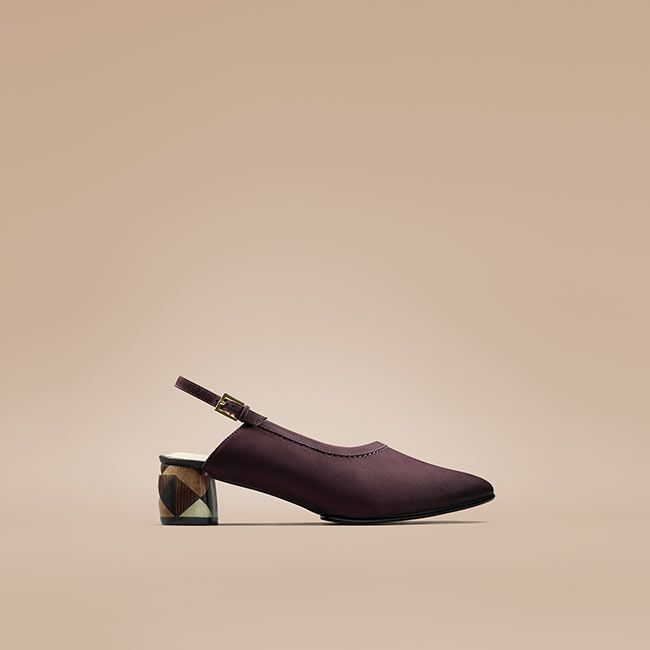 Shop Grace Olivia in Aubergine Nubukleder