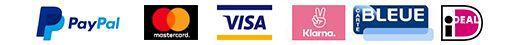 Paypal Mastercard Visa Klarna Bleue iDeal image