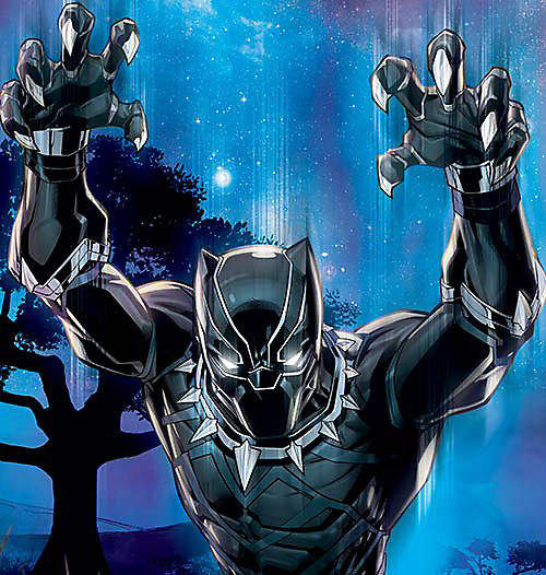 Cartoon image of Black Panther, select this box to see a larger image