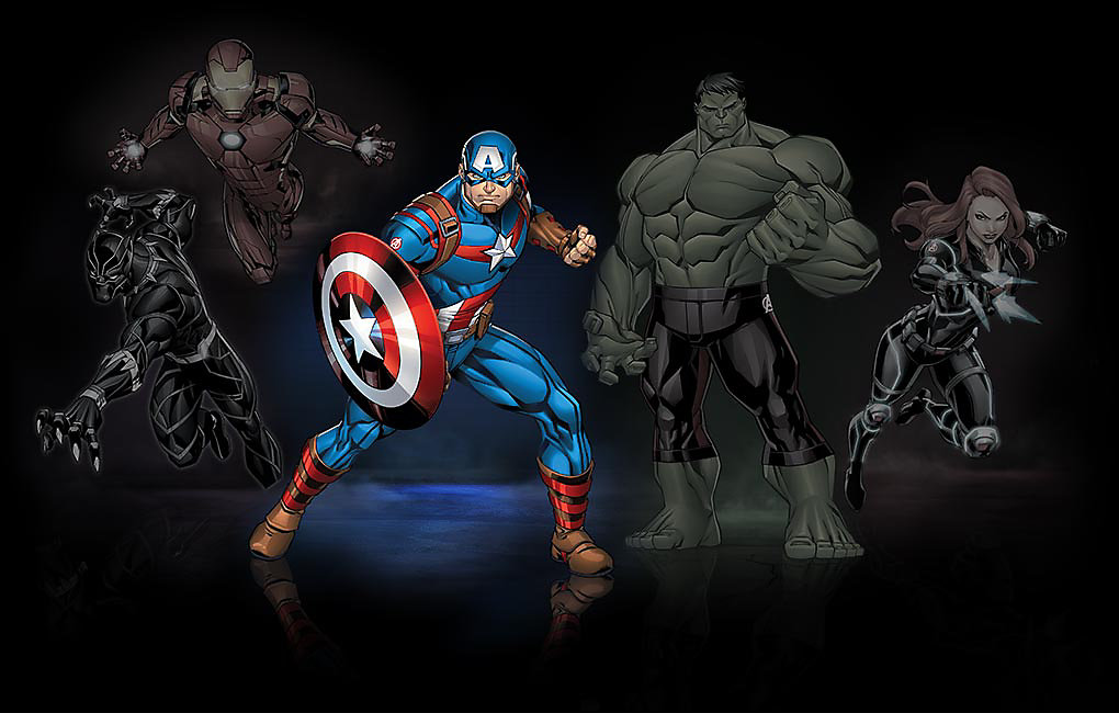 Leuchtendes Bild von Captain America