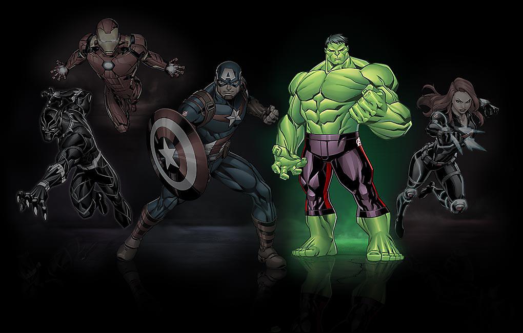 Leuchtendes Bild von Hulk