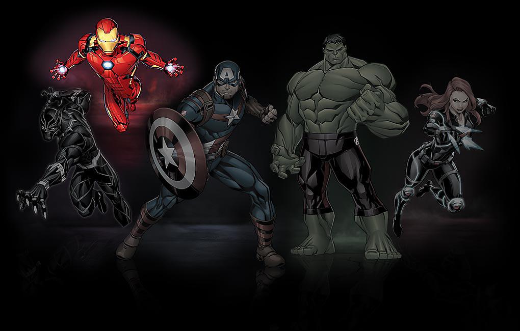 Leuchtendes Bild von Iron Man