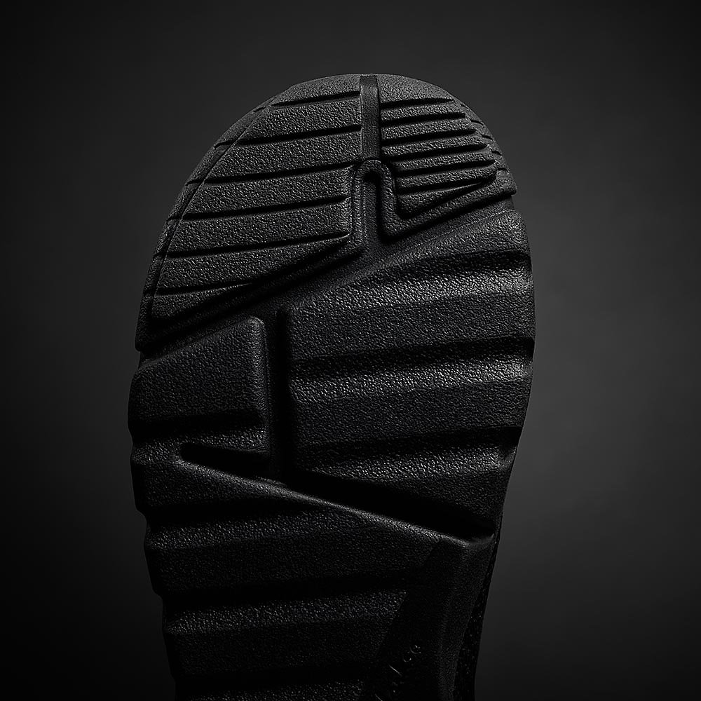 Enlarged up shot of Black Panther's sole