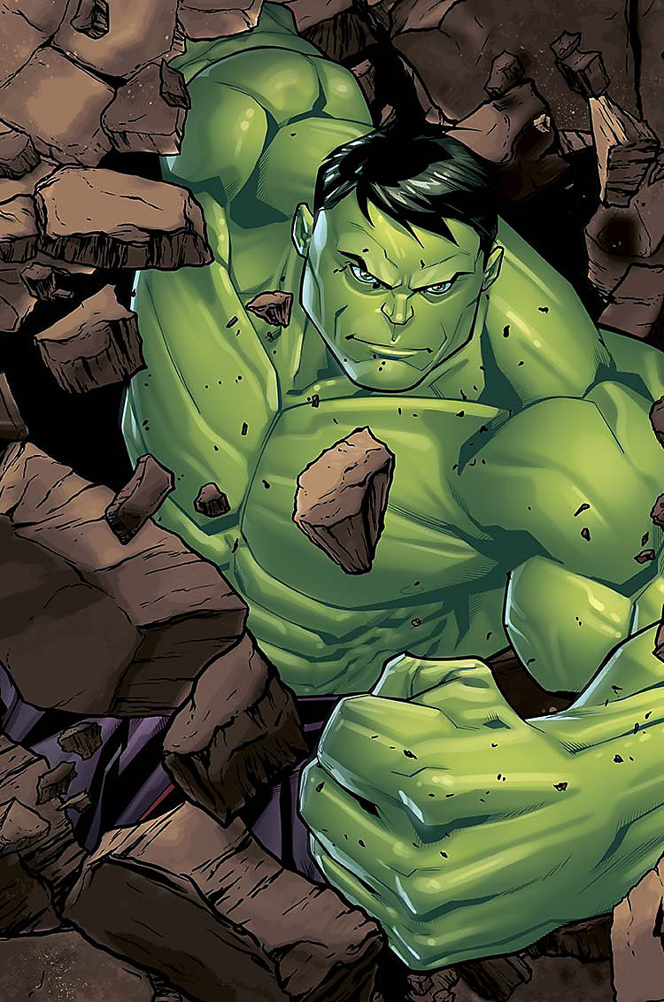 Enlarged Cartoon image of Hulk