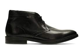 Chilver Hi GTX, botas de hombre en cuero negro con Gore-Tex