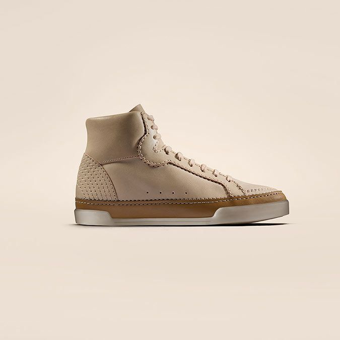 Hidi Haze, dames sneakers in beige leer