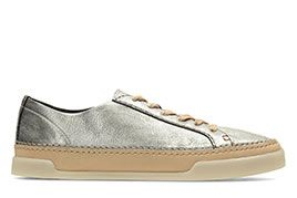 Hidi Holly, Damensneaker in Silber/Metallic Leder