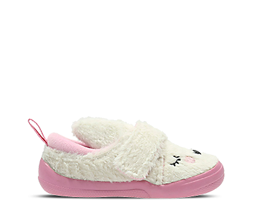 Shilo Patch, kids slippers, white/pink textile