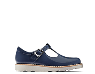 Crown Wish, kids shoes, navy patent leather