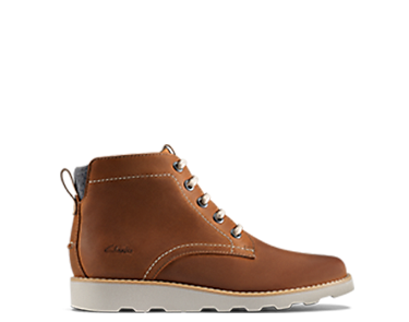 Dexy Top Junior, kids boots, brown leather