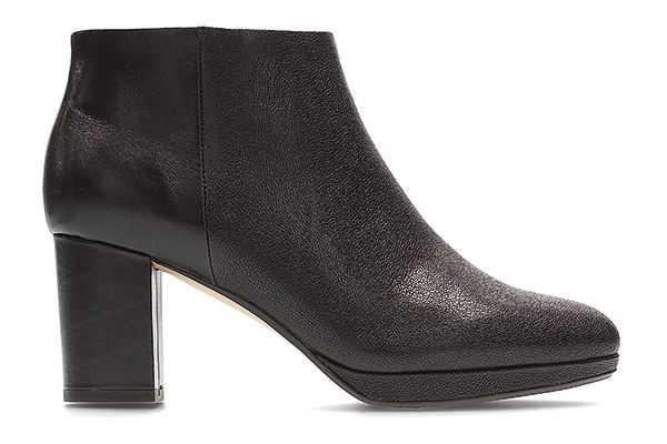 Kelda Nights, Black heeled ankle boots