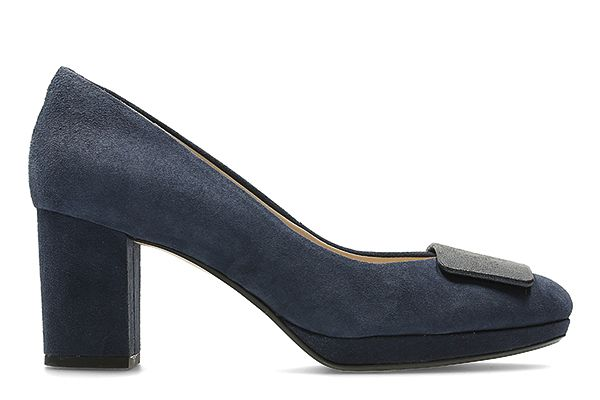 Kelda Gem, navy leren pumps