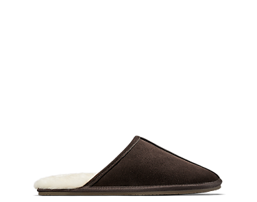 Crackling Fire, men's slippers, brown suede