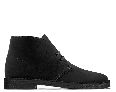 Desert Boot, men's boots, black suede