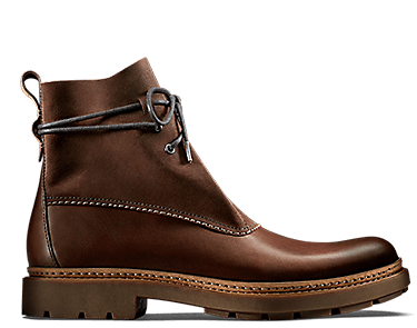 Trace Dusk, men's boots, mahogany leather