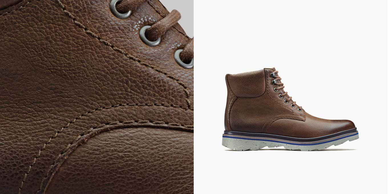 Frelan Top, botas de cordones en cuero marrón para hombre | Clarks.es