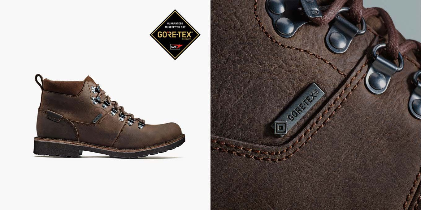 Lawes High GTX, bottines à lacets en cuir marron pour Homme | Clarks.fr
