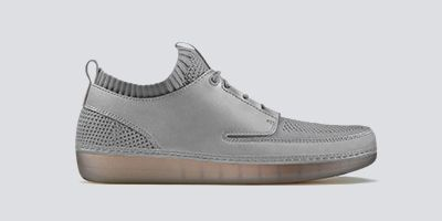 Clarks Nature IV, grey leather and mesh men's sneakers
