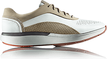 Sneakers made from beige-white Premium Leather