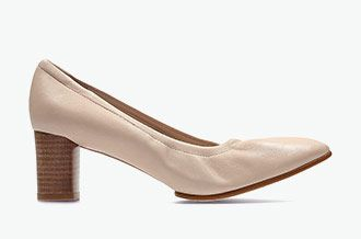 Grace Isabella, nude pink leather heels