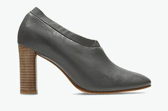 Grace Lola, dark grey leather pumps