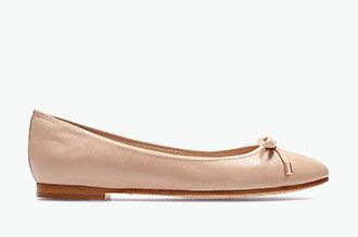 Grace Lily, pink leather ballerinas