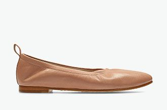 Grace Mia, ballerinas in dusty pink leather