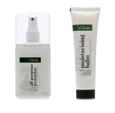 Clarks protector spray and moisturising balm
