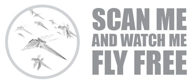 Scan me and watch me fly free