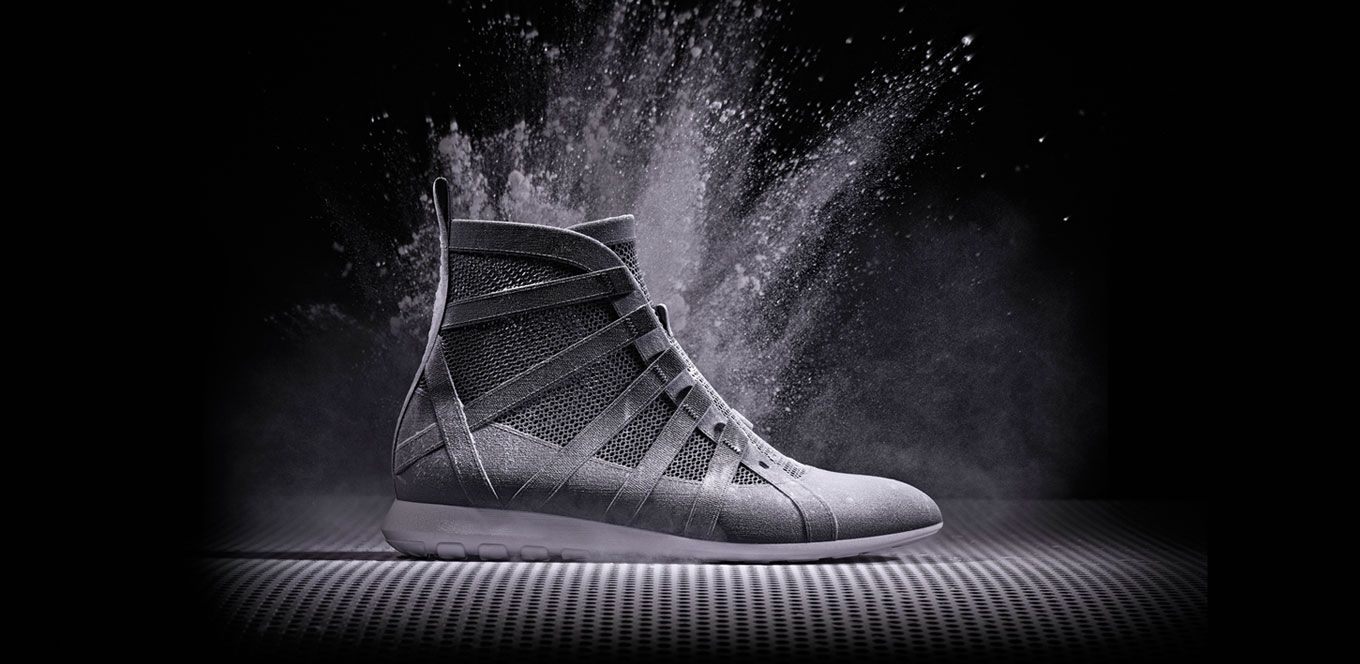 High-top sneaker with mesh upper