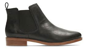 Taylor shine, black leather women's ankle boots