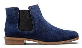 Taylor shine, navy suede women's ankle boots