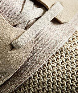 Detailaufnahme der Schnürsenkel und des Mesh-Materials eines Trigenic Evo Boots