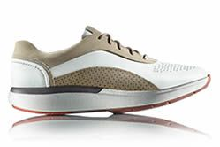 Un Cruise Lace, Womens Sneakers in beige-white Premium Leather