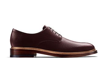 Somerville Low Mens Dress in Burgundy Tumbled