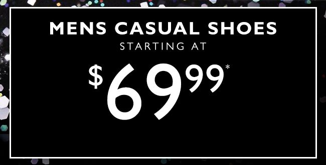 Mens Casual Shoes Starting at $69.99