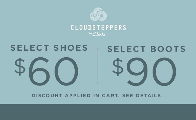 Cloudsteppers. Discount applied in cart. See details