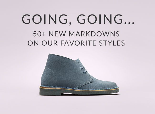 New Markdowns On Favorite Styles like The Desert Boot and More