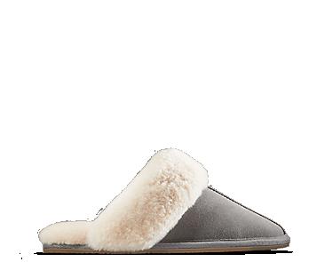 Warm Glitz, women's slippers, grey suede