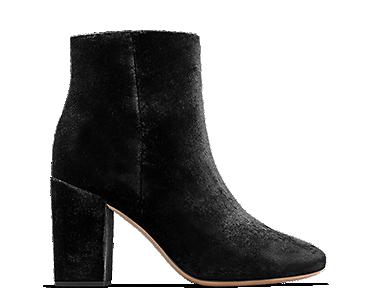 Amabel Rio, women's boots, black velvet