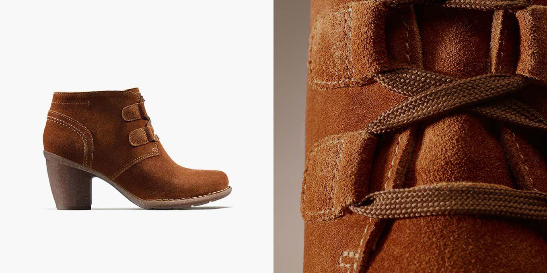 Carleta Lyon, Ankle Boots aus dunkelbraunem Wildleder für Damen | Clarks.de