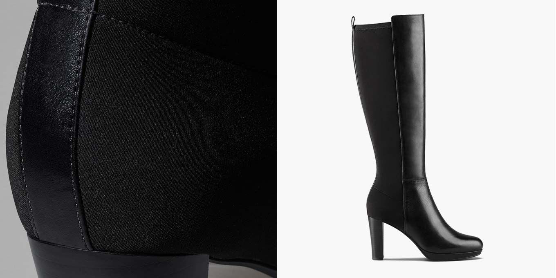 Kendra Glove, bottes hautes en cuir pour Femme | Clarks.fr