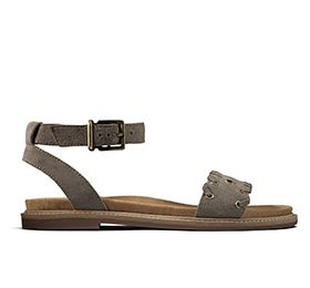 Corsio Amelia, womens sandals in sage suede