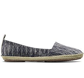 Clovelly Sun, dames espadrilles in denim