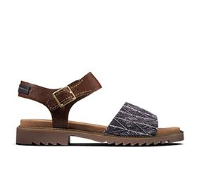 Ferni Fame, flat sandals in tan combi