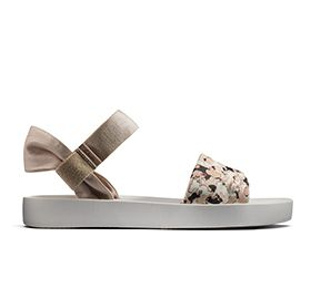 Seanna Sun, women's sandals with floral/camouflage print