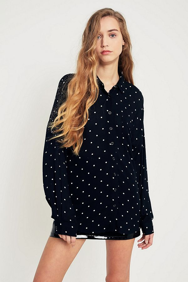 b10f96866 Pins & Needles Polka Dot Button-Down Shirt | Urban Outfitters UK